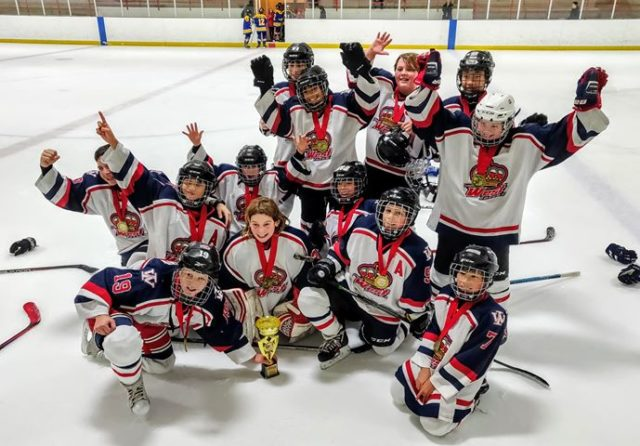 The Pee Wee B Knights are Champions